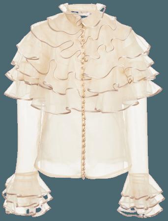 Lucky Tiered Silk Blouse By Zimmermann | Moda Operandi