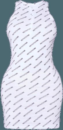 Plt Shape White Zip Sleeveless Bodycon Dress   PrettyLittleThing USA