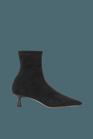 Kitten-heel Ankle Boots - Black