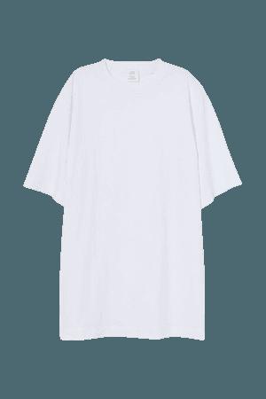Oversized Cotton T-shirt - White