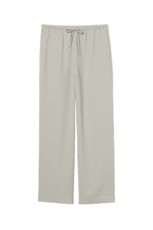 Wide-cut Pants - Light sage green - Ladies | H&M US