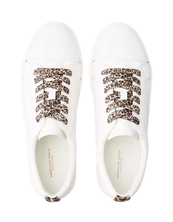 AEO Lace Up Sneaker white