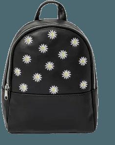 Girls' Daisy Mini Backpack - Art Class™ Black : Target