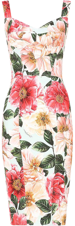 Dolce & Gabbana floral-print midi dress white F6C3CTFSRMU - Farfetch