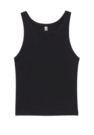 Cotton Tank Top - Black