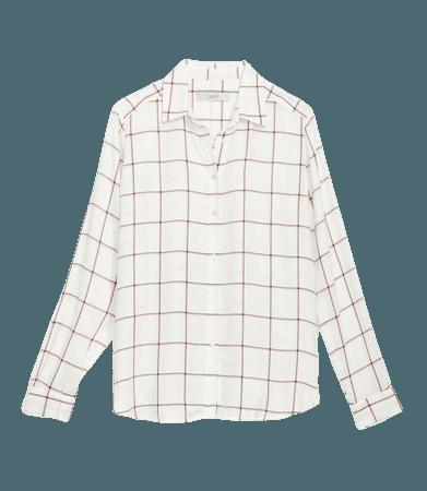 Plaid Hi-Low Tunic Shirt   LOFT