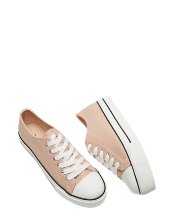 Miss Selfridge lace-up sneakers in pink   ASOS