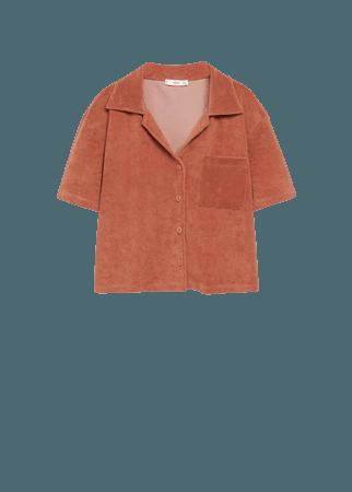 Towel cotton shirt - Women | Mango USA