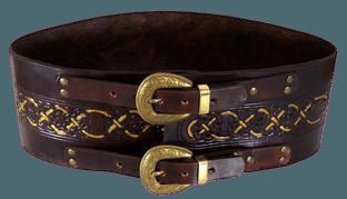 Made to Order Celtic Tooled Wide Leather Hero Belt LARP   Etsy