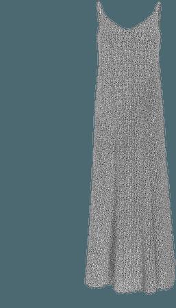 Dot Print V-neck Maxi Dress   Express