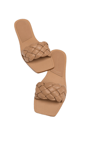 Flat woven sandals - Women's Just in | Stradivarius United States