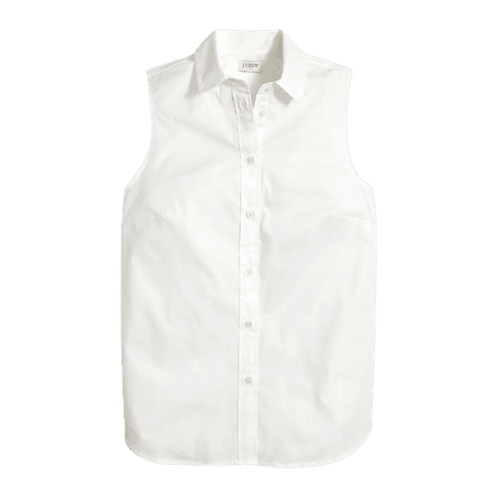 J.Crew Factory: Petite Sleeveless Cotton Poplin Shirt In Signature Fit For Women