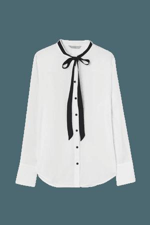 Tie-collar Blouse - White