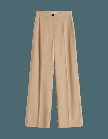Wide-leg pants with back pocket - Wide leg - Woman | Bershka