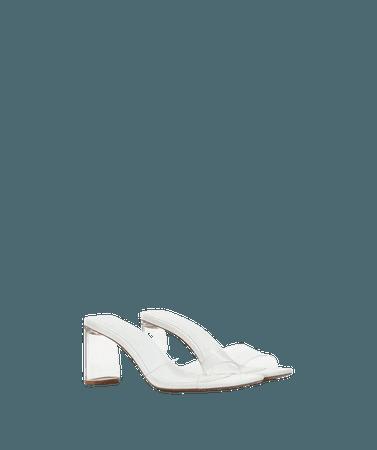 Vinyl sandals with methacrylate heels - Shoes - Woman | Bershka