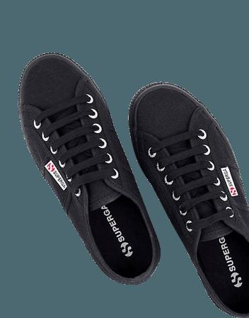 Superga 2790 Acot platform sneakers in black   ASOS