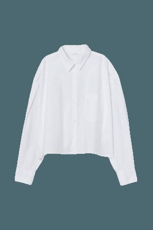 Boxy Cotton Shirt - White