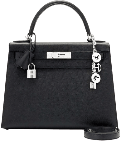 Hermes Kelly 28cm Black Epsom Sellier Shoulder Bag Y Stamp, 2020 For Sale at 1stDibs