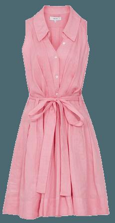 Carlotta Pink Button Through Mini Dress – REISS