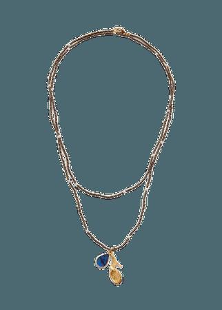 Crystal pendant necklace - Women | Mango USA