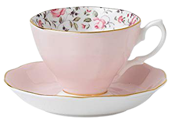 Amazon.com | Royal Albert 8704026135 Rose Confetti Formal Vintage Boxed Teacup and Saucer Set: Drinkware Cups With Saucers: Cup & Saucer Sets