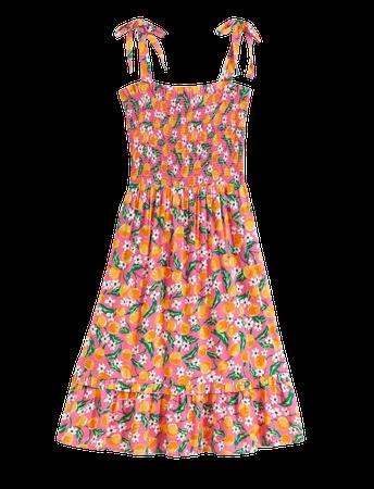 Taylor Smocked Dress in Orange Blossom – Draper James