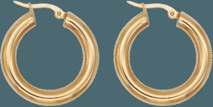 Celine 30MM Gold Hoop Earring
