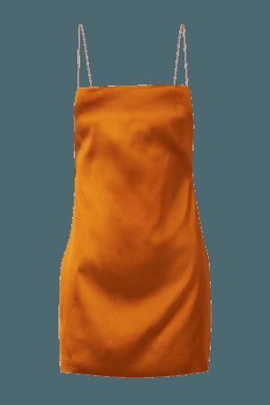 Orange Bima open-back satin mini dress   GAUGE81   NET-A-PORTER
