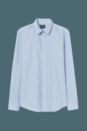 Slim Fit Easy-iron Shirt - Light blue - Men | H&M US