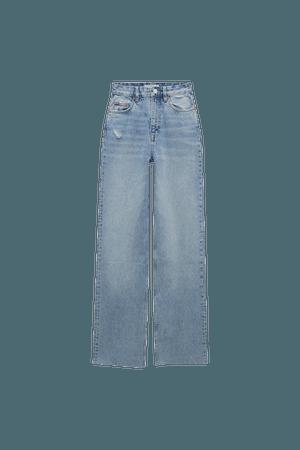 Straight-leg jeans with raw hems - pull&bear