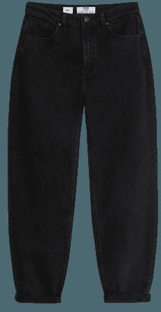 Mom jeans with rolled-up hems - Denim - Woman   Bershka