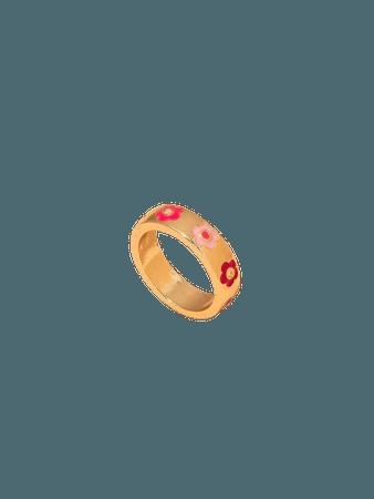 Flower Pattern Ring   SHEIN USA