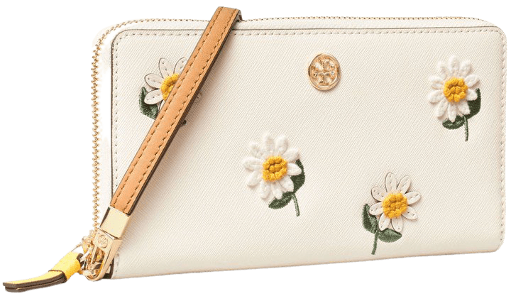 Robinson Embroidered Zip Continental Wallet