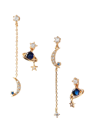Girls Crew Sapphire Twilight Post Earring Set | Urban Outfitters