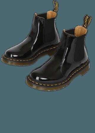 Dr. Martens 2976 Black - Leather Chelsea Boots - Black Boots - Lulus