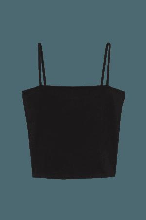Short Camisole Top - Black - Ladies   H&M US