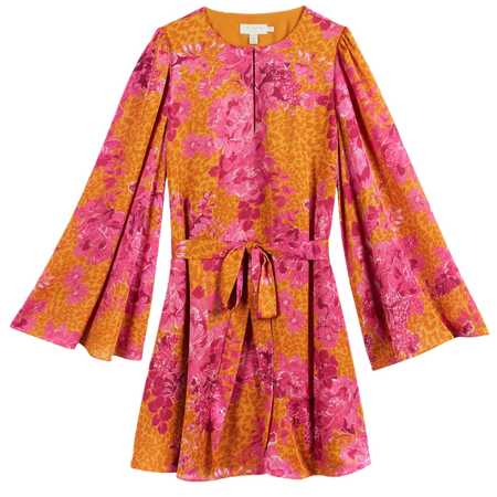 Metropolis Mini Dress - Yellow   Floral Dresses   Ted Baker
