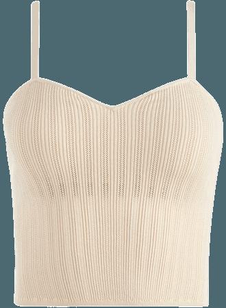 Lauretta Knit Tank In Soft White   Alice And Olivia