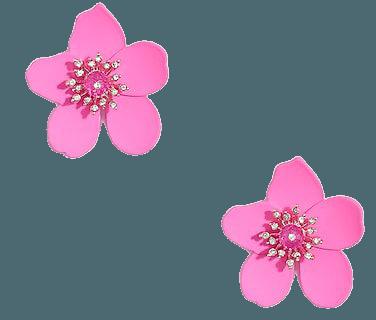 J.Crew Factory: Pavé Crystal Floral Stud Earrings For Women