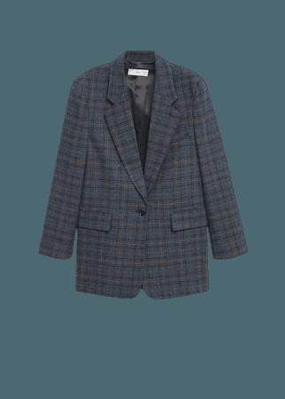 Structured textured blazer - Women   Mango USA
