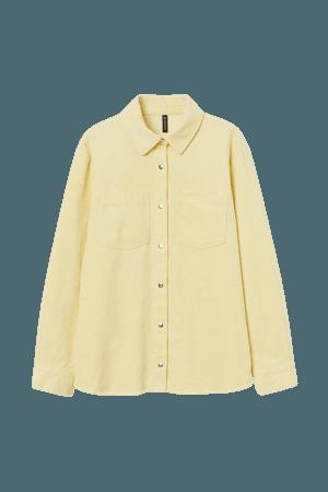 Corduroy Shirt - Yellow