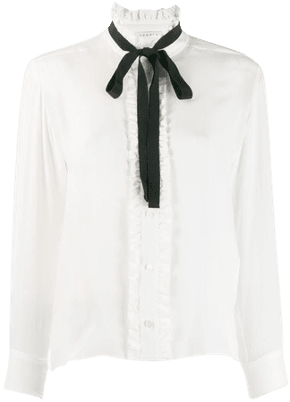 Shop Sandro Paris long-sleeved bow blouse with Express Delivery - FARFETCH