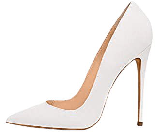 Amazon.com   Elisabet Tang High Heels, Womens Pointed Toe Slip on Stilettos Party Wedding Pumps Basic Shoes White 11   Pumps