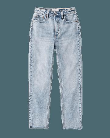 Women's Curve Love High Rise Mom Jeans | Women's New Arrivals | Abercrombie.com