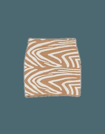 Zebra print skirt - New - Woman   Bershka