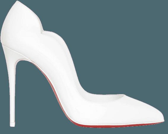 Hot Chick 100 white patent pumps