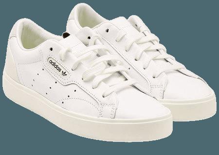 Adidas Originals - Sleek Leather Sneakers - white