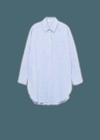 Oversize striped shirt - Women | Mango USA
