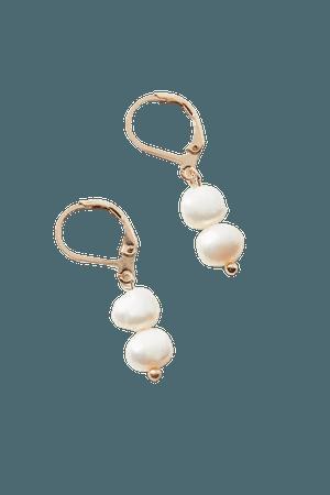 Pearl Charm Hoop Earring | Urban Outfitters