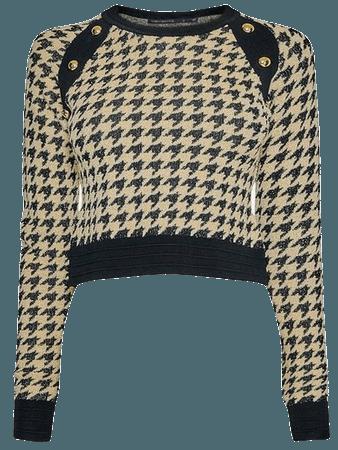 Textured Jacquard Knitted Jumper | Karen Millen